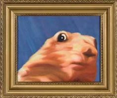 Pay homage to the best five-second clip on the internet with the forever memorialized dramatic chipmunk paiting. Hang this meme in your home or office so that you can wow all your nerd friends and coworkers. They'll know that you're not only relevant but also intensely dramatic.  HAHA.