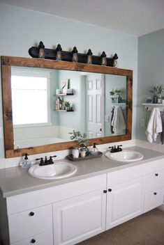 Bathroom decor for the master bathroom remodel. Discover master bathroom organization, master bathroom decor suggestions, master bathroom tile ideas, master bathroom paint colors, and much more. Restroom Remodel, Diy Bathroom Remodel, Diy Bathroom Decor, Bathroom Interior Design, Bathroom Renovations, Home Interior, Home Renovation, Home Remodeling, Kitchen Remodel