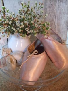 Beautiful old French ballerina shoes from Repetto, Paris.  To be found at Bij Lente.