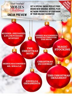 The Most Wonderful Movies of Christmas 2015 - Sneak Preview | Hallmark Movies and Mysteries