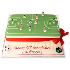 The Cake Store - Football Pitch Cake, £75.00 (http://www.thecakestore.co.uk/football-pitch-cake/)
