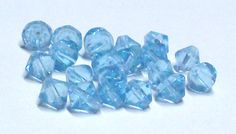 Light Aqua Faceted Glass Bicone Beads 8 MM by BeadsFromHaven, $1.00