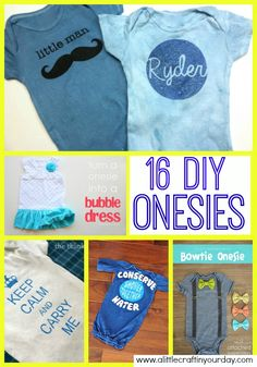 16 DIY Onesies by A Little Craft in Your Day