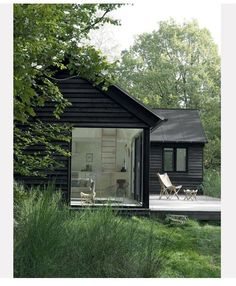 Prefab Modern Cabin Modern Modular Homes, Prefab Homes & Prefab Cabins In Canada Prefab Modern Cabins In Mn 3 - House Plans and more house design Design Exterior, Black Exterior, Casas Containers, Cabins And Cottages, Cabins In The Woods, Little Houses, My Dream Home, Modern Rustic, Modern Barn