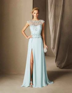Perfect For Bridesmaids, Parties & Stylish Celebrations – The 2017 Cocktail Collection By Pronovias   Love My Dress® UK Wedding Blog + Wedding Directory Dresses Uk, Blue Dresses, Evening Dresses, Prom Dresses, Wedding Dresses, Couture Mode, Couture Fashion, Marine Uniform, Pink Cocktail Dress