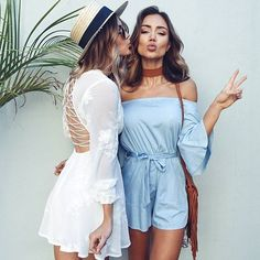 WEBSTA @ showpo - Summer goals  Our 'Love Kills' dress   'Against The Tide' playsuit are our fave! Shop them now via the link in our bio ☝️ #showpo