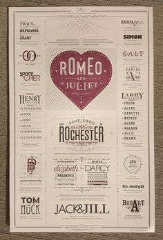 Beautiful poster with lovely type pairs