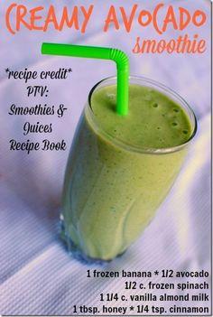Creamy Avocado Smoothie + PTV Smoothies and Juices Recipe Book Giveaway (via Bloglovin.com )
