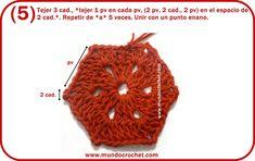 Patron campera o saquito tejida con 2 hexagonos a crochet o ganchillo con paso a paso o tutorial