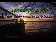Para saber como es la soledad - LEONARDO FAVIO