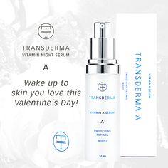 Transderma Skin Care Transderma A Natural Retinol Night Serum - Wake up to Skin You Love this Valentine's Day! http://www.mytransderma.com/beautifulskin/transderma-a-natural-retinol-night-serum-wake-up-to-skin-you-love-this-valentines-day/