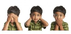 See, Hear, Speak No Evil. A child illustrating the concept of See No Evil, Hear , Breast Cancer Fundraiser, Parental Rights, See No Evil, Speech Therapy, Teaching Kids, Photo Editing, Told You So, Parenting, Stock Photos