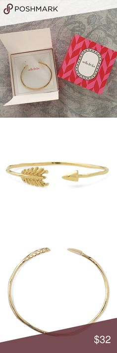 NIB Stella & Dot Gilded Arrow Bangle - Gold NIB Stella & Dot Gilded Arrow Bangle in gold. Brand new - has never been worn or used for display. Bangle is a retired style and is no longer readily available. According to the website: the bracelet is brass with gold plating. Adjusts to fit most wrists. Fits SM-LG wrist. Lead and nickel free. Stella & Dot Jewelry Bracelets