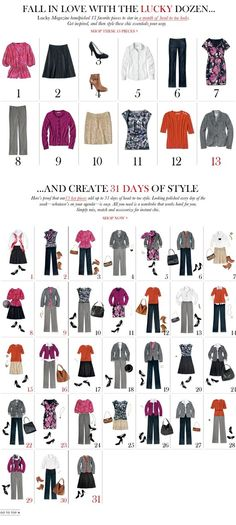 from a dozen to 31 days of style