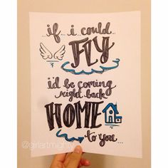 If I Could Fly One Direction Lyrics by GirlArtmighty on Etsy