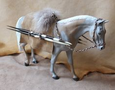The Spear Carrier repainted custom altered Breyer by thegreenwolf, $125.00