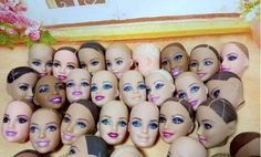 O for U Toy 30 Pcs/lot Original Bald Heads For Barbies Dolls DIY Mixed Styles 1/6 Doll Heads Without Hair Factory Wholesale