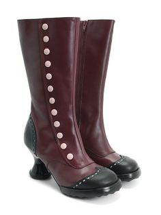 Babycake [Cherry & Black] boots by John Fluevog shoes