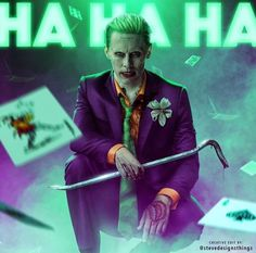 "joker-eruri: "" Jared Leto's Joker in classic purple suit, edit by  stevedesignsthings 