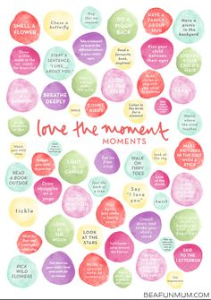 Free Love the Moment Printable