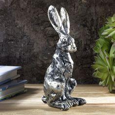 Champagne Bronze Sitting Hare Ornament  | eBay