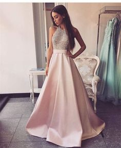 8a7d0a6ebf3 Heavy Beaded Pink Long Prom Dress Women Evening Formal Gown 2019 PD037  Heavy Beaded Pink Long Prom Dress Women Evening Formal Gown 2019 PD037