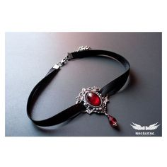 Gothic choker with Red Stone Metal Choker Victorian Gothic Jewelry ❤ liked on Polyvore featuring jewelry, necklaces, victorian choker necklace, gothic chokers, goth choker necklace, metal necklace and red stone necklace