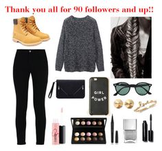 """""""Thanks guys for 90 followers and more"""" by sportygirlsforever ❤ liked on Polyvore featuring Toast, STELLA McCARTNEY, Timberland, Ray-Ban, Eddie Borgo, MAC Cosmetics, Marc Jacobs, Bobbi Brown Cosmetics, women's clothing and women"""