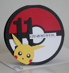 GABES POKEMON CARD Pokemon Birthday Card Cards For Boys Homemade