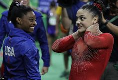 Simone Biles and Lauren Hernandez at The 2016 Rio Olympics. Proud of our girls!!!!