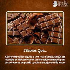 ¿#SabíasQue Comer chocolate ayuda a vivir más tiempo? #Curiosidades #Gastronomía