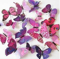 Motyle Motylki 3D naklejki