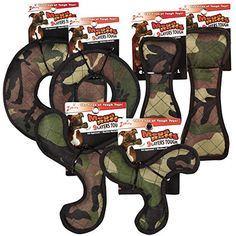 Zanies 12 Piece MegaRuffs Camo Toy Pack Green ** You can find more details by visiting the image link.