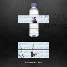 Disney's Frozen Birthday Party Water Bottle Labels