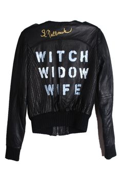 Suzanne Mallouk  'WITCH WIDOW WIFE' Genuine Leather Jacket - IMMEDIATE DELIVERY SIZE XS