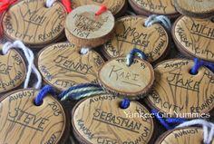 Wood name tag cookies by Yankee Girl Yummies