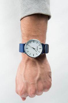 This silver Parsonii watch is so elegant yet so trendy!