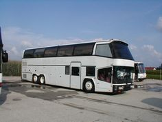 Converted Neoplan passenger bus,  two story motorhome