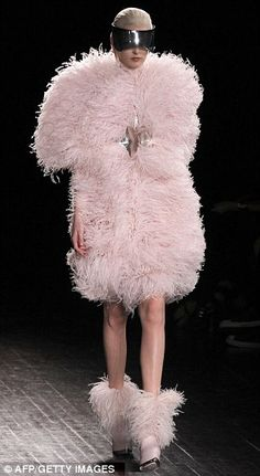 Sarah Burton for Alexander McQueen  (Poodles on Parade! Or a cone of cotton candy! kn)