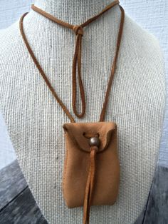 Vintage Deerskin Sacred Medicine Pouch by bettyrayvintage on Etsy, $20.00