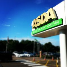 Yorkshire branch of Asda celebrates the region's medal success by turning sign gold Shameless Plug, Asda, Stunts, Yorkshire, Turning, Shops, Success, Sign, Holiday