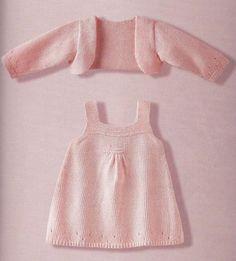 Kız Bebeklere Örgü Elbise Modelleri 98