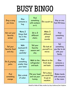 Busy Bingo - Karen and those with younger kids - saw this and thought of you.  So, not really crafting ideas, but fun anyway!