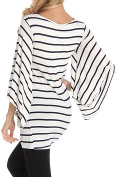 Stripe Draped Tunic..this would probably make me look like a cow!