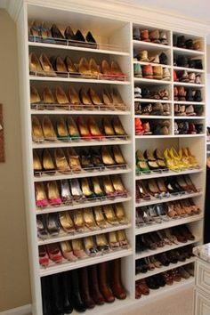 Spectacular Shoe Storage - contemporary - closet - dc metro - Tailored Living feat PremierGarage of Northern VA