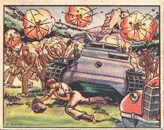 "Mort de Gerda Taro a la sèrie de cromos ""True stories of modern warfare"" (1938)"