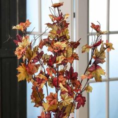 Rich Artificial Maple Leaf Bush