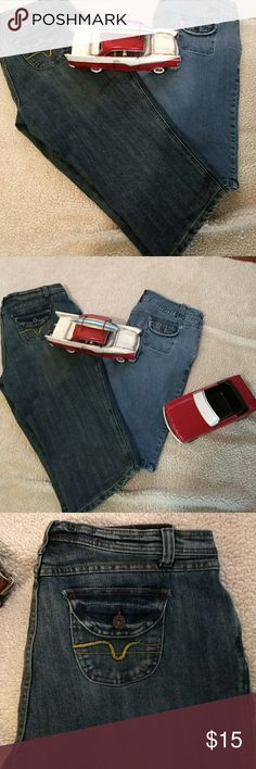 Bundle of 2 pair Capris/ Bermuda Capri Pants are Size 16 W - Baccini Brand They have studs/ embellishments around front pockets And have button flap pockets in back  Bermuda shorts are Size 16 stretch Bandolino Brand  They have 2 slot front pockets and Button Flap back pockets Shorts Bermudas