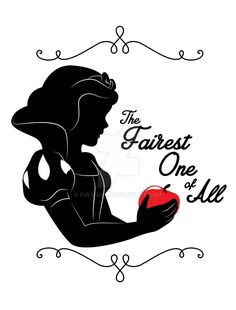 The Fairest One of All by on DeviantArt - Disney - Disney Princess Snow White, Snow White Disney, Deco Disney, Disney Art, Snow White Quotes, Disney Silhouette Art, Princess Silhouette, Princesas Disney Zombie, Disney Font Free