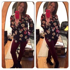 Loving the Poppy Blouse lately....paired with Bordeaux Wash Skinny jeans today